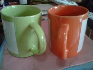 mug warna dalam HIJAU,ORANGE