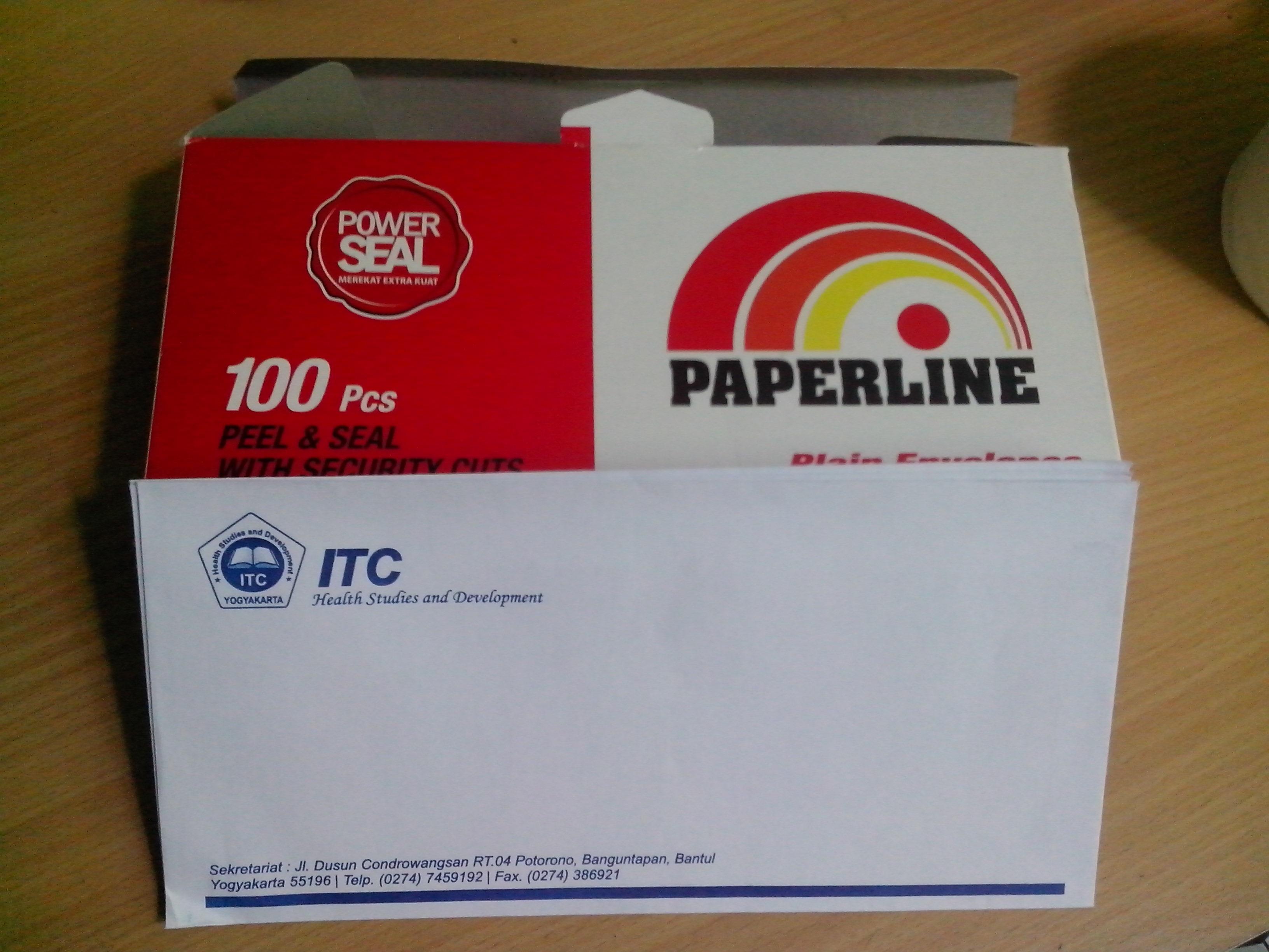 Cetak Amplop Putih Paperline Murah Pusat Cetak Sablon Merchandise